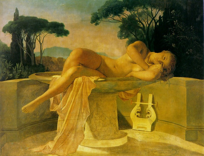 Girl in a Basin 1845